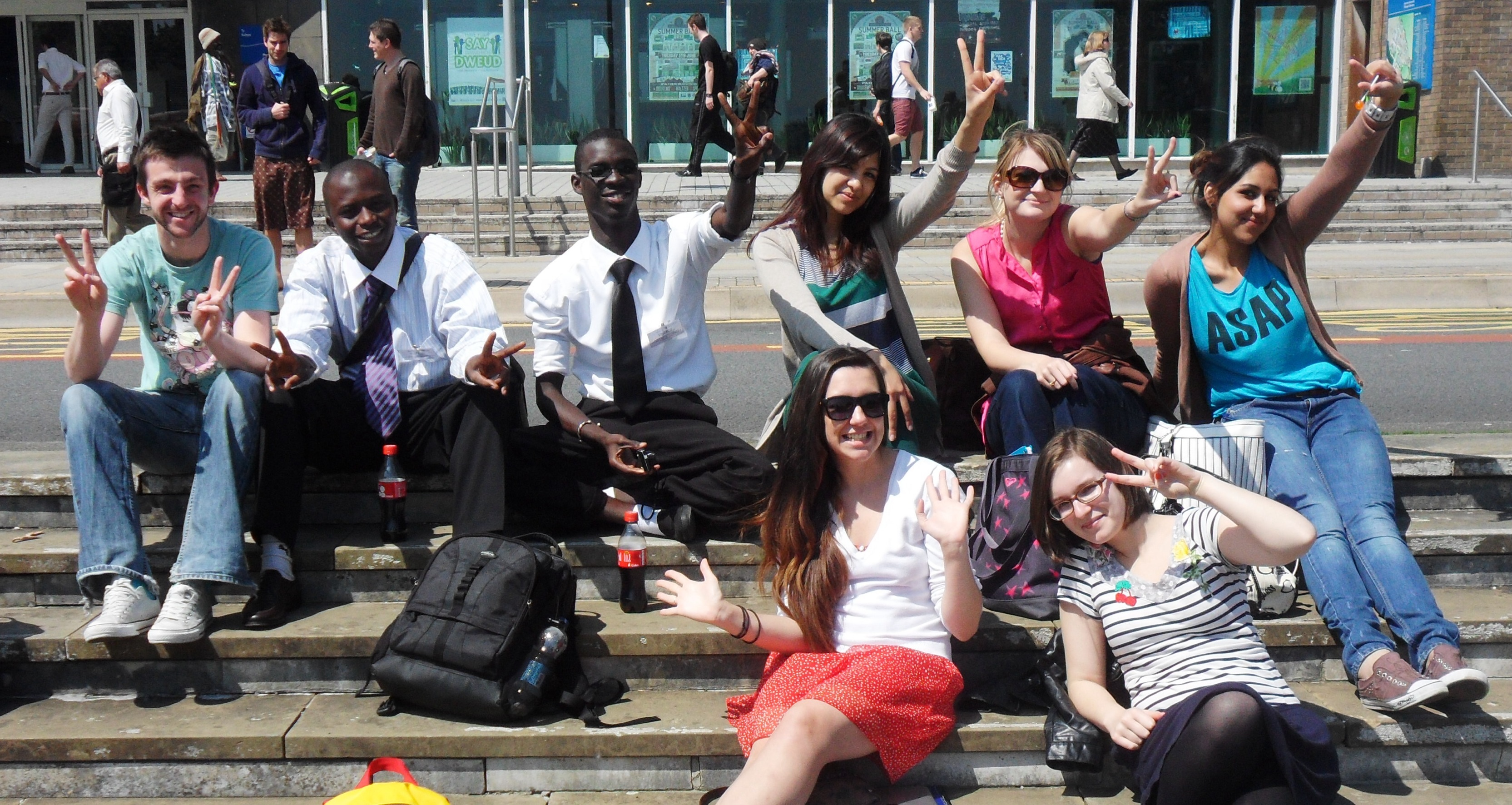 Gambian students in Swansea